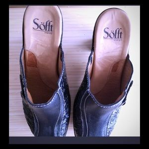 Sofft mules black size 8.5